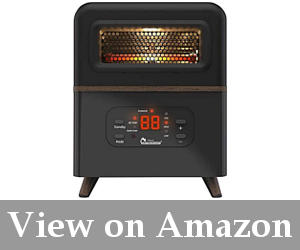 safe and powerful small garage heater
